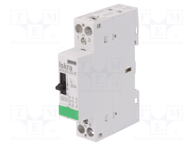 30.046.265_Contactor:2-pole installation; NO x2; 230VAC; 20A; DIN; IKA-R