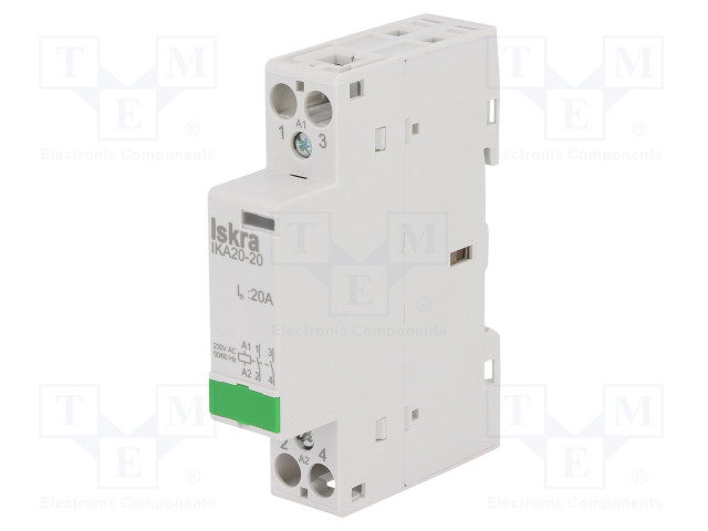 30.046.005_Contactor:2-pole installation; NO x2; 230VAC; 20A; DIN; IKA