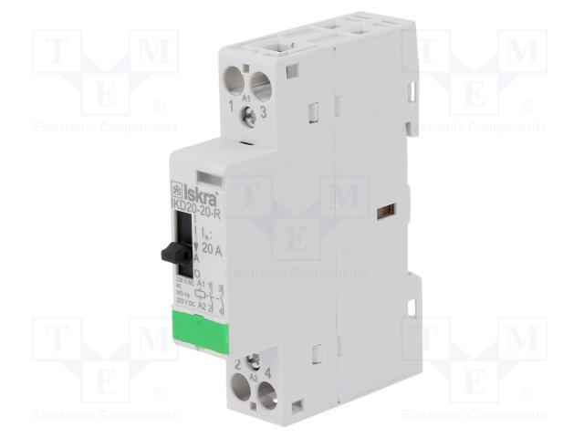 30.046.381_Contactor:2-pole installation; NO x2; 230VAC; 220VDC; 20A; DIN