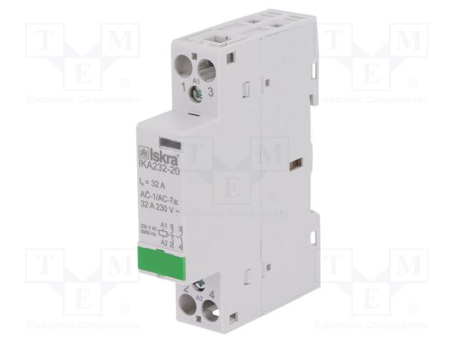 30.046.833_Contactor:2-pole installation; NO x2; 230VAC; 32A; DIN; IKA