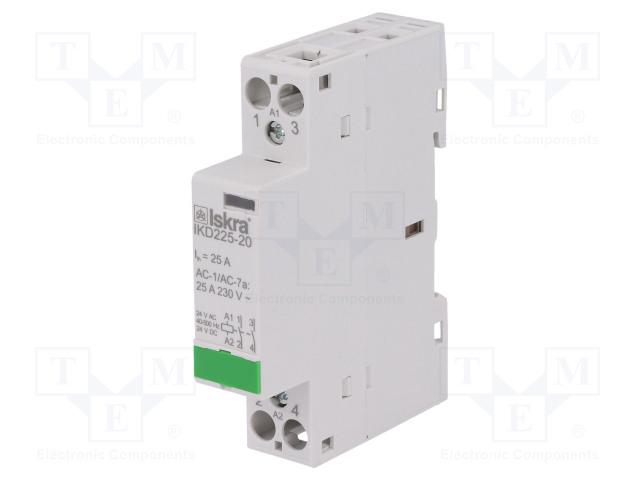 30.046.861_Contactor:2-pole installation; NO x2; 24VAC; 24VDC; 25A; DIN; IKD