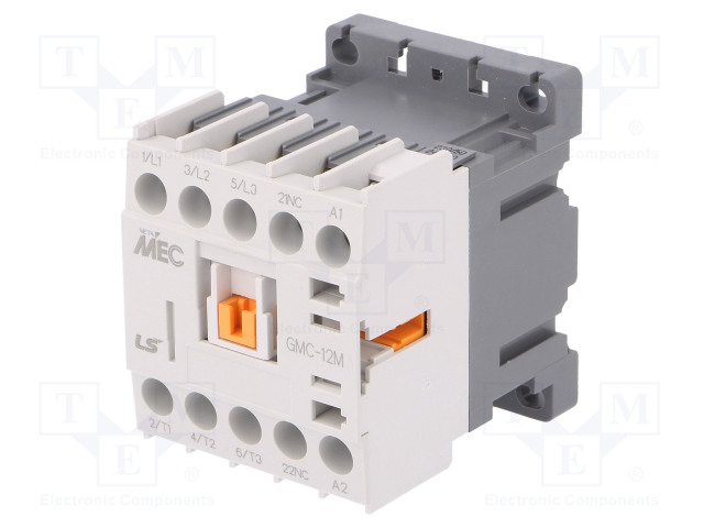 GMC-12M 230VAC 1B_Contactor:3-pole; NO x3; Auxiliary contacts: NC; 230VAC; 12A; IP20
