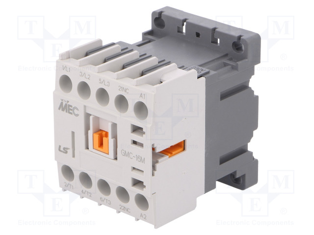 GMC-16M 230VAC 1B_Contactor:3-pole; NO x3; Auxiliary contacts: NC; 230VAC; 16A; IP20