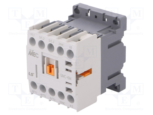 GMC-6M 24VAC 1B_Contactor:3-pole; NO x3; Auxiliary contacts: NC; 24VAC; 6A; W:45mm
