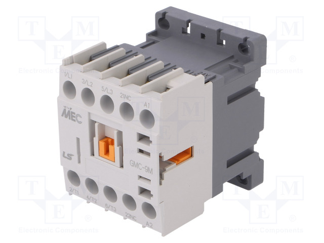 GMC-9M 24VAC 1B_Contactor:3-pole; NO x3; Auxiliary contacts: NC; 24VAC; 9A; W:45mm