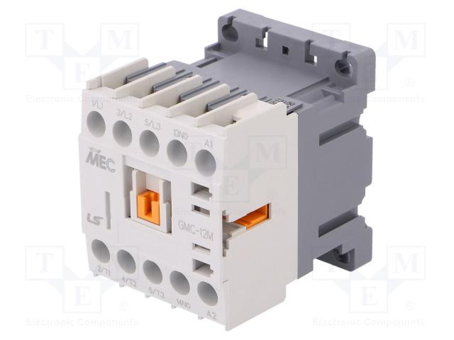 GMC-12M 230VAC 1A_Contactor:3-pole; NO x3; Auxiliary contacts: NO; 230VAC; 12A; IP20