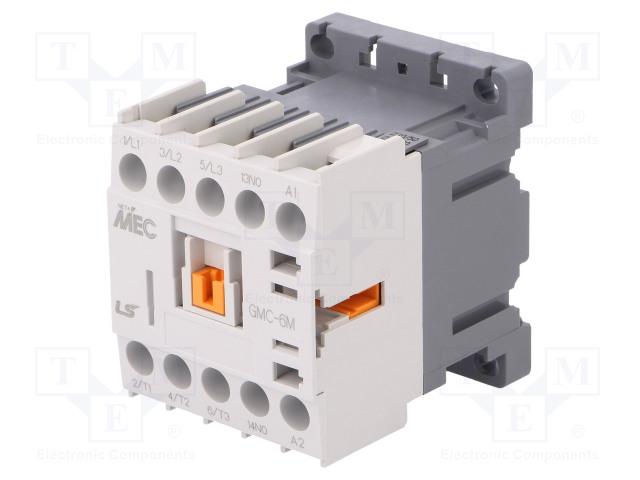 GMC-6M 230VAC 1A_Contactor:3-pole; NO x3; Auxiliary contacts: NO; 230VAC; 6A; IP20