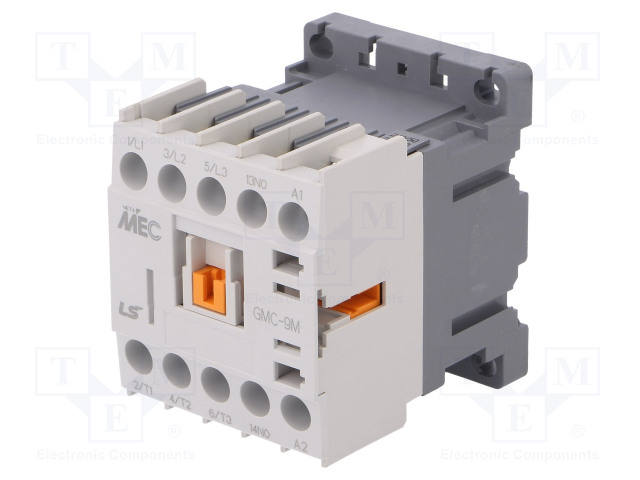 GMC-9M 230VAC 1A_Contactor:3-pole; NO x3; Auxiliary contacts: NO; 230VAC; 9A; IP20
