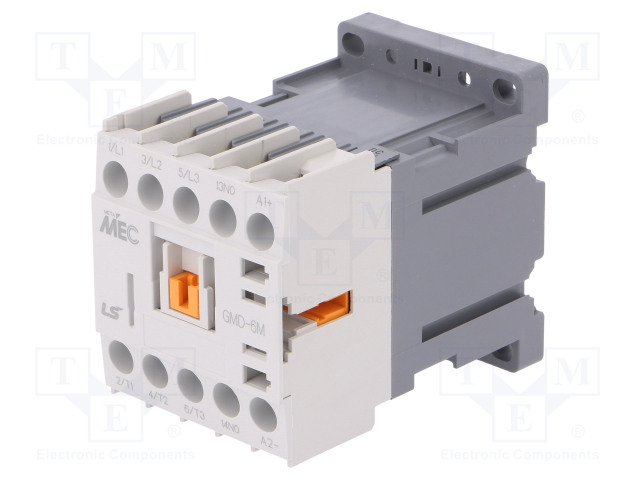GMD-6M 24VDC 1A_Contactor:3-pole; NO x3; Auxiliary contacts: NO; 24VDC; 6A; W:45mm
