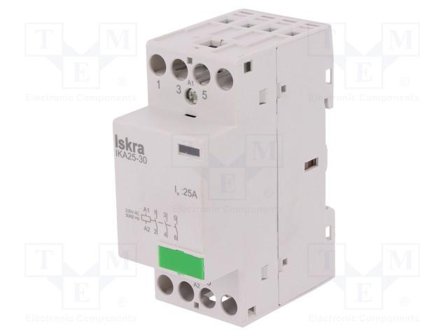30.046.282_Contactor:3-pole installation; NO x3; 230VAC; 25A; DIN; IKA