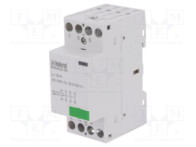 30.046.854_Contactor:3-pole installation; NO x3; 230VAC; 32A; DIN; IKA
