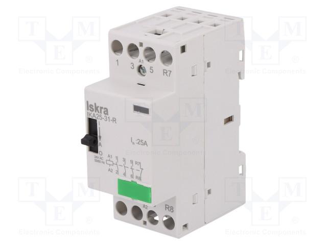 30.046.276_Contactor:4-pole installation; NC + NO x3; 24VAC; 25A; DIN; IKA-R