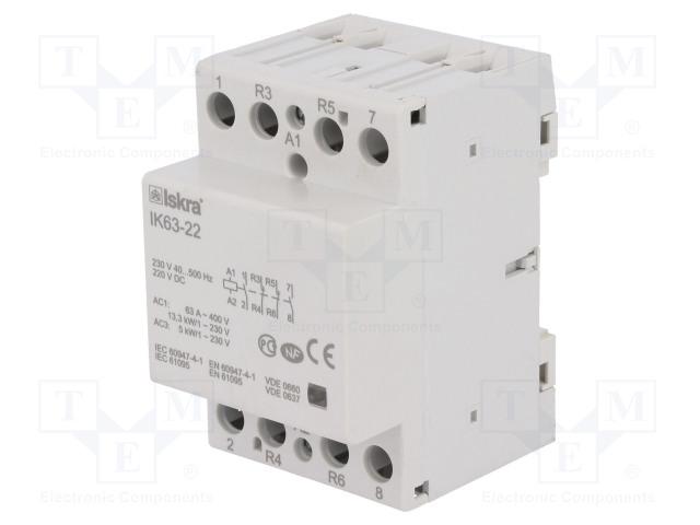 30.045.235_Contactor:4-pole installation; NC x2 + NO x2; 230VAC; 220VDC