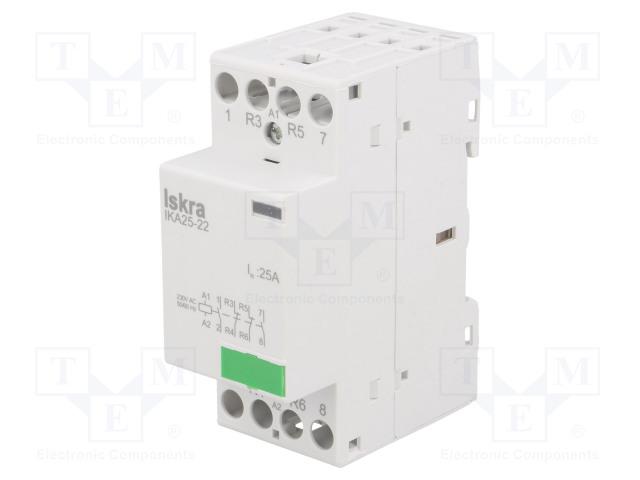 30.046.014_Contactor:4-pole installation; NC x2 + NO x2; 230VAC; 25A; DIN