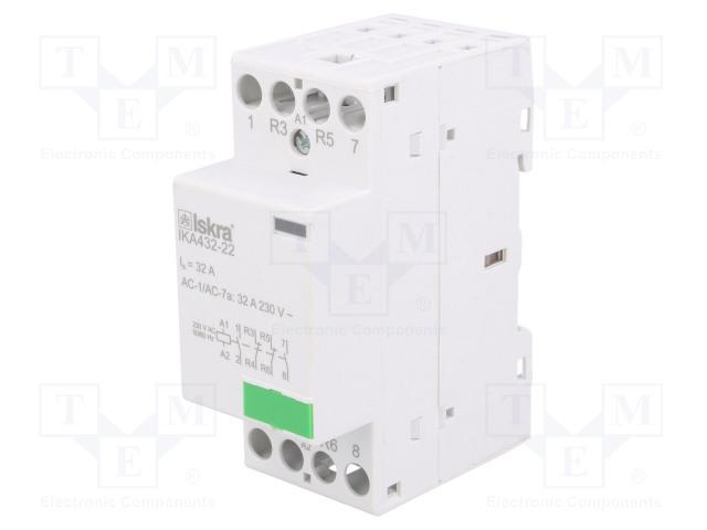 30.046.856_Contactor:4-pole installation; NC x2 + NO x2; 230VAC; 32A; DIN