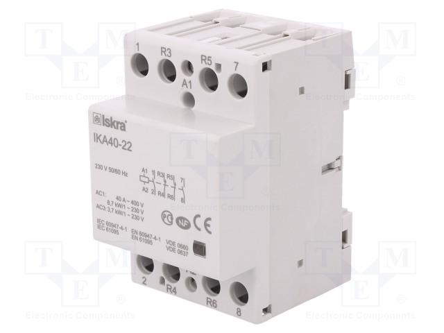 30.045.519_Contactor:4-pole installation; NC x2 + NO x2; 230VAC; 40A; DIN