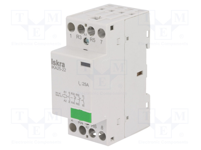 30.046.029_Contactor:4-pole installation; NC x2 + NO x2; 24VAC; 25A; DIN
