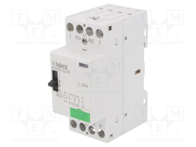 30.046.277_Contactor:4-pole installation; NC x2 + NO x2; 24VAC; 25A; DIN