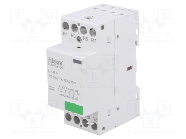 30.046.859_Contactor:4-pole installation; NC x4; 24VAC; 32A; DIN; IKA