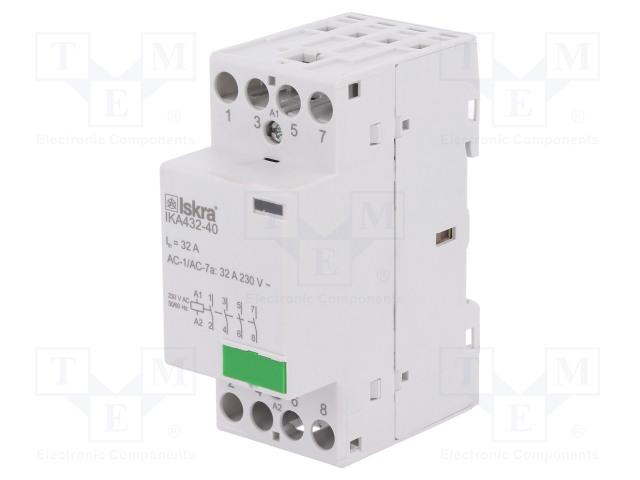 30.046.849_Contactor:4-pole installation; NO x4; 230VAC; 32A; DIN; IKA