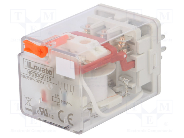 HR703CA110_Relay: electromagnetic; 3PDT; Ucoil:110VAC; 10A/250VAC; 10A/30VDC