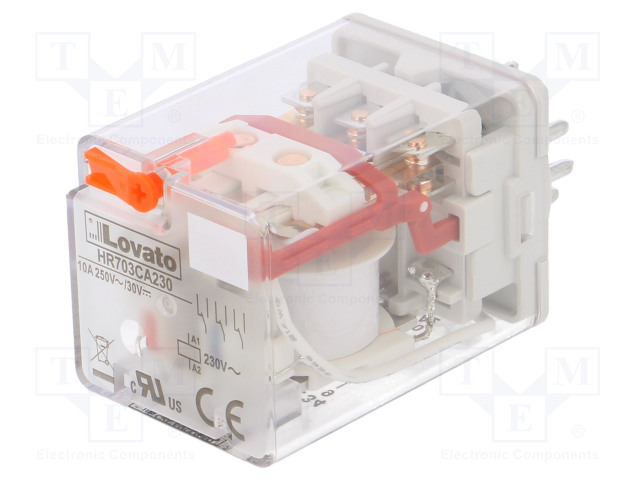 HR703CA230_Relay: electromagnetic; 3PDT; Ucoil:230VAC; 10A/250VAC; 10A/30VDC