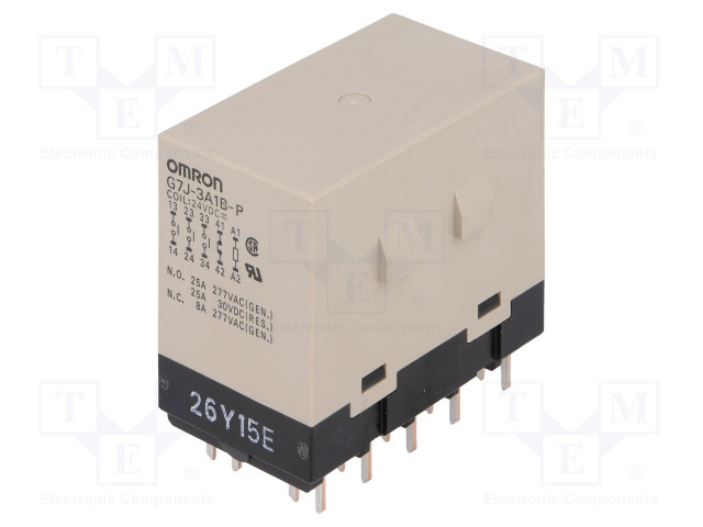 G7J-3A1B-P 24VDC_Relay: electromagnetic; 3PST-NO + SPST-NC; Ucoil:24VDC; 25A; 50mΩ