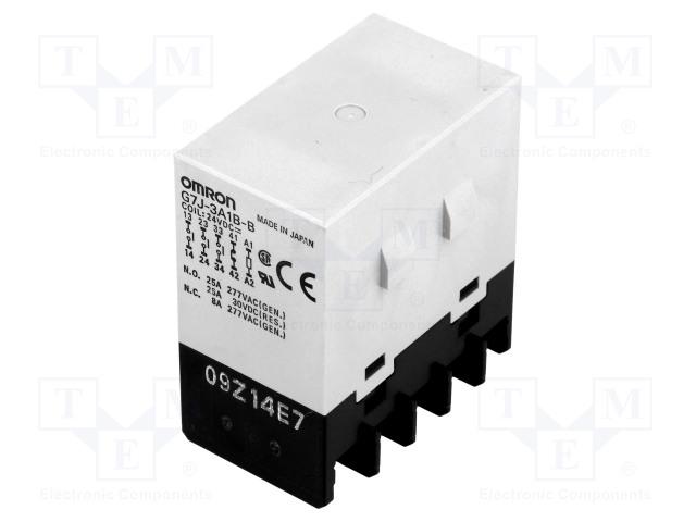 G7J-3A1B-B 24VDC_Relay: electromagnetic; 3PST-NO + SPST-NC; Ucoil:24VDC; 25A; 50mΩ