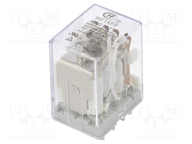 HF18FF/A220-4Z1_Relay: electromagnetic; 4PDT; Ucoil:220VAC; 5A/250VAC; 5A/30VDC