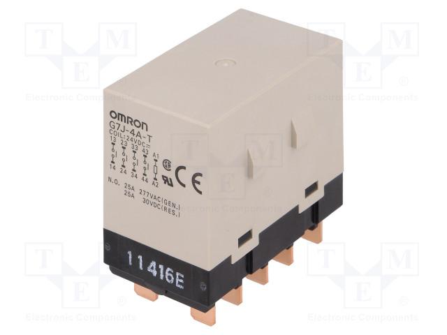 G7J-4A-T 24VDC_Relay: electromagnetic; 4PST-NO; Ucoil:24VDC; 25A; Series: G7J