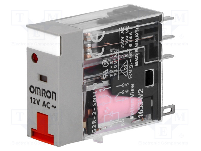G2R-2-SNI 12VAC (S)_Relay: electromagnetic; DPDT; Ucoil:12VAC; 5A/250VAC; 5A/30VDC
