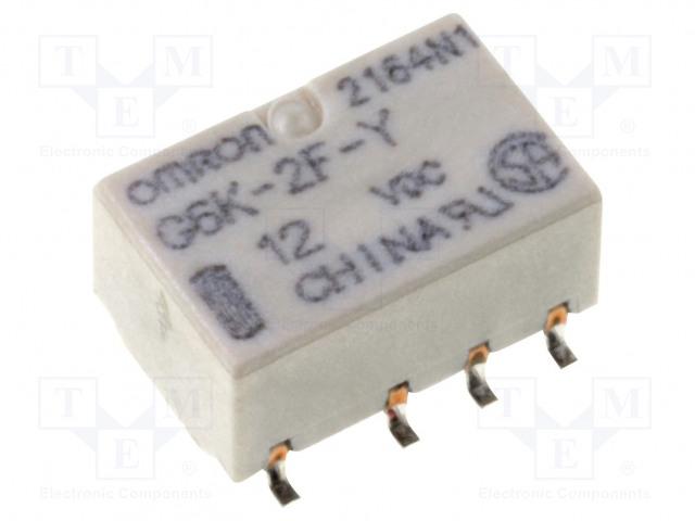 G6K-2F-Y 12VDC_Relay: electromagnetic; DPDT; Ucoil:12VDC; 0.3A/125VAC; 1A/30VDC