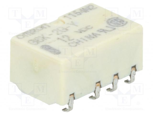 G6K-2G-Y 12VDC_Relay: electromagnetic; DPDT; Ucoil:12VDC; 0.3A/125VAC; 1A/30VDC