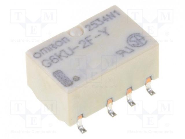 G6KU-2F-Y 12VDC_Relay: electromagnetic; DPDT; Ucoil:12VDC; 0.3A/125VAC; 1A/30VDC