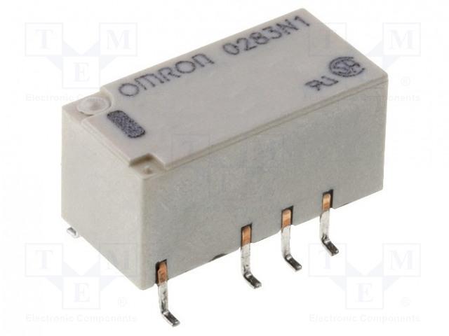 G6S-2F-Y 5VDC_Relay: electromagnetic; DPDT; Ucoil:5VDC; 0.5A/125VAC; 2A/30VDC