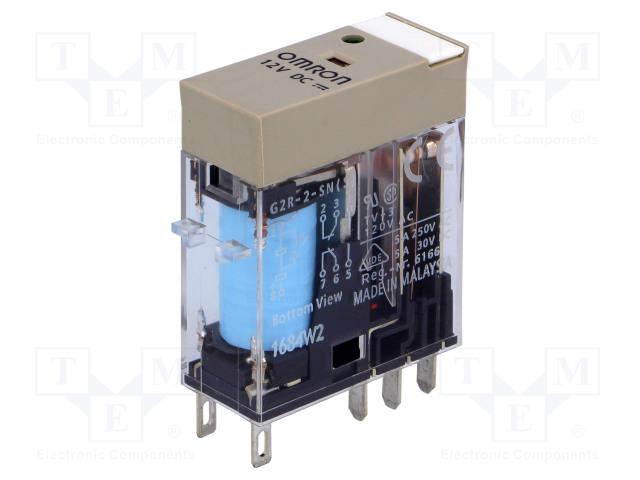 G2R-2-SN 12VDC (S)_Relay: electromagnetic; DPDT; Ucoil:12VDC; 5A/250VAC; 5A/30VDC