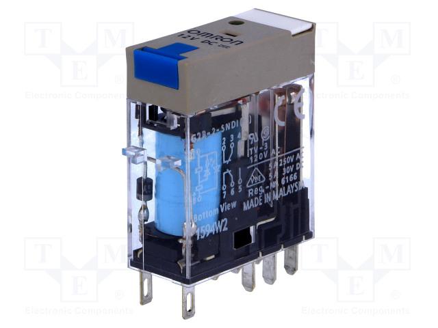 G2R-2-SNDI 12VDC (S)_Relay: electromagnetic; DPDT; Ucoil:12VDC; 5A/250VAC; 5A/30VDC