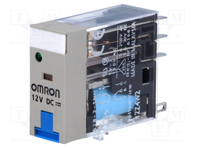 G2R-2-SNI 12VDC (S)_Relay: electromagnetic; DPDT; Ucoil:12VDC; 5A/250VAC; 5A/30VDC