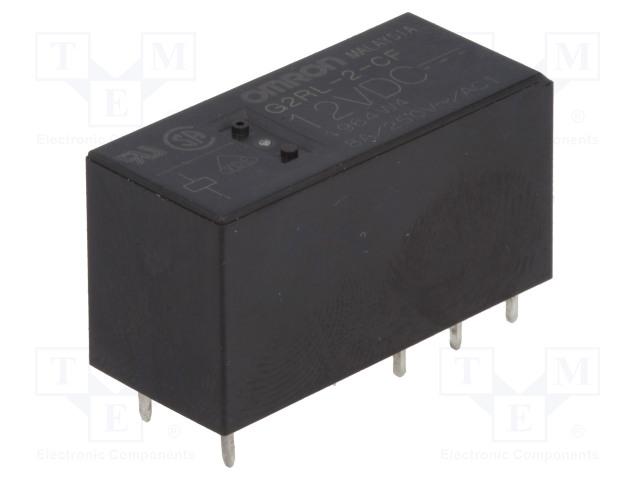 G2RL-2-CF 12VDC_Relay: electromagnetic; DPDT; Ucoil:12VDC; 8A/250VAC; 8A/24VDC