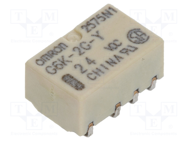 G6K-2G-Y 24VDC_Relay: electromagnetic; DPDT; Ucoil:24VDC; 0.3A/125VAC; 1A/30VDC