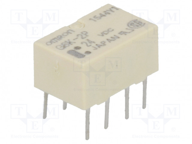 G6K-2P 24VDC_Relay: electromagnetic; DPDT; Ucoil:24VDC; 0.3A/125VAC; 1A/30VDC