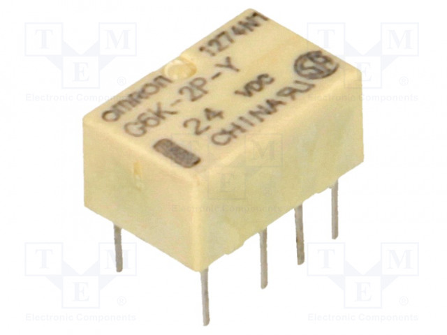 G6K-2P-Y 24VDC_Relay: electromagnetic; DPDT; Ucoil:24VDC; 0.3A/125VAC; 1A/30VDC