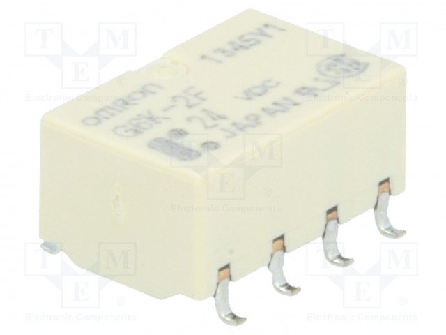 G6K-2F 24VDC_Relay: electromagnetic; DPDT; Ucoil:24VDC; 0.3A/125VAC; 1A/30VDC