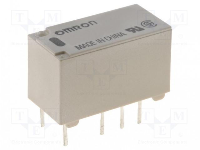 G6S-2-Y 12VDC_Relay: electromagnetic; DPDT; Ucoil:12VDC; 0.5A/125VAC; 2A/30VDC