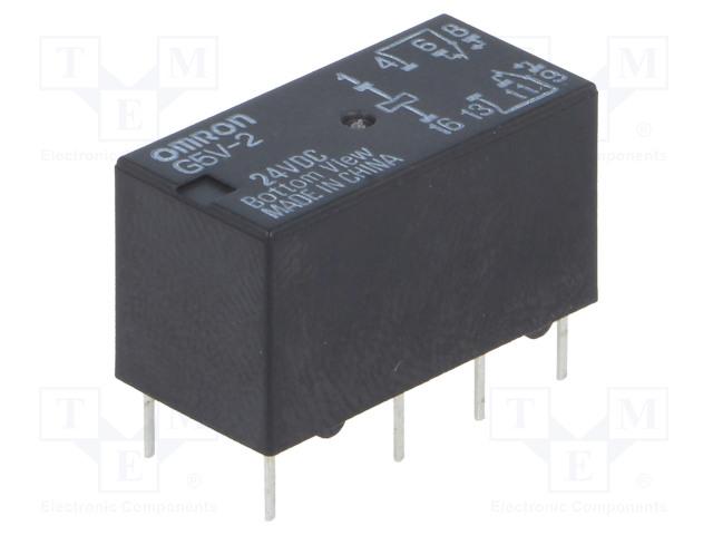 G5V-2 24VDC_Relay: electromagnetic; DPDT; Ucoil:24VDC; 0.5A/125VAC; 2A/30VDC