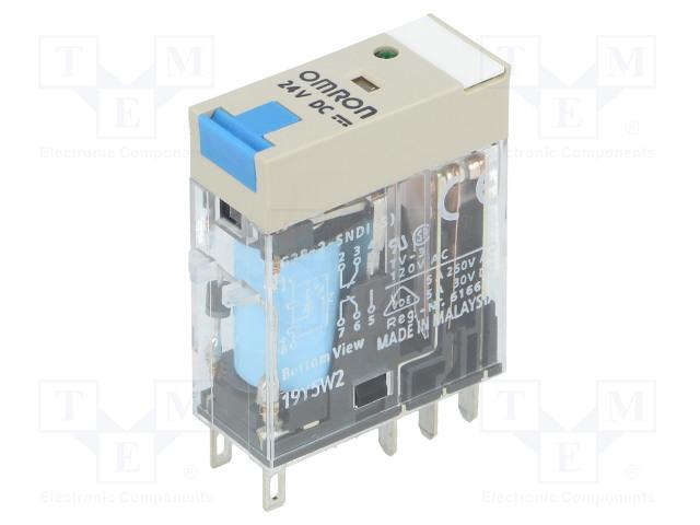 G2R-2-SNDI 24V DC_Relay: electromagnetic; DPDT; Ucoil:24VDC; 5A/250VAC; 5A/30VDC