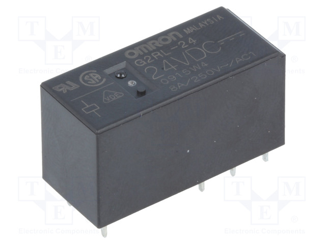 G2RL-24 24VDC_Relay: electromagnetic; DPDT; Ucoil:24VDC; 8A/250VAC; 8A/24VDC