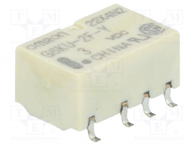 G6KU-2F-Y 3VDC_Relay: electromagnetic; DPDT; Ucoil:3VDC; 0.3A/125VAC; 1A/30VDC