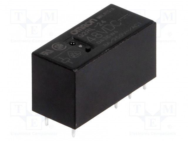 G2RL-24 48VDC_Relay: electromagnetic; DPDT; Ucoil:48VDC; 8A/250VAC; 8A/24VDC