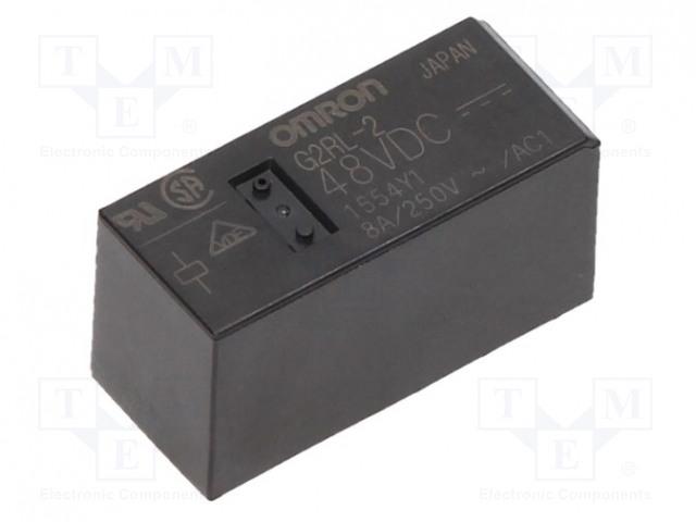 G2RL-2 48VDC_Relay: electromagnetic; DPDT; Ucoil:48VDC; 8A/250VAC; 8A/24VDC